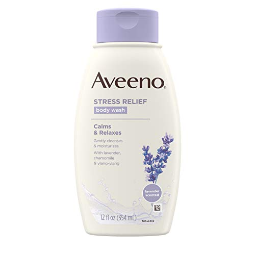 Buy Aveeno Stress Relief Body Wash With Lavender, Chamomile And Ylang-Ylang Oils, 12 Fl. Oz. (Pack of 3) Singapore