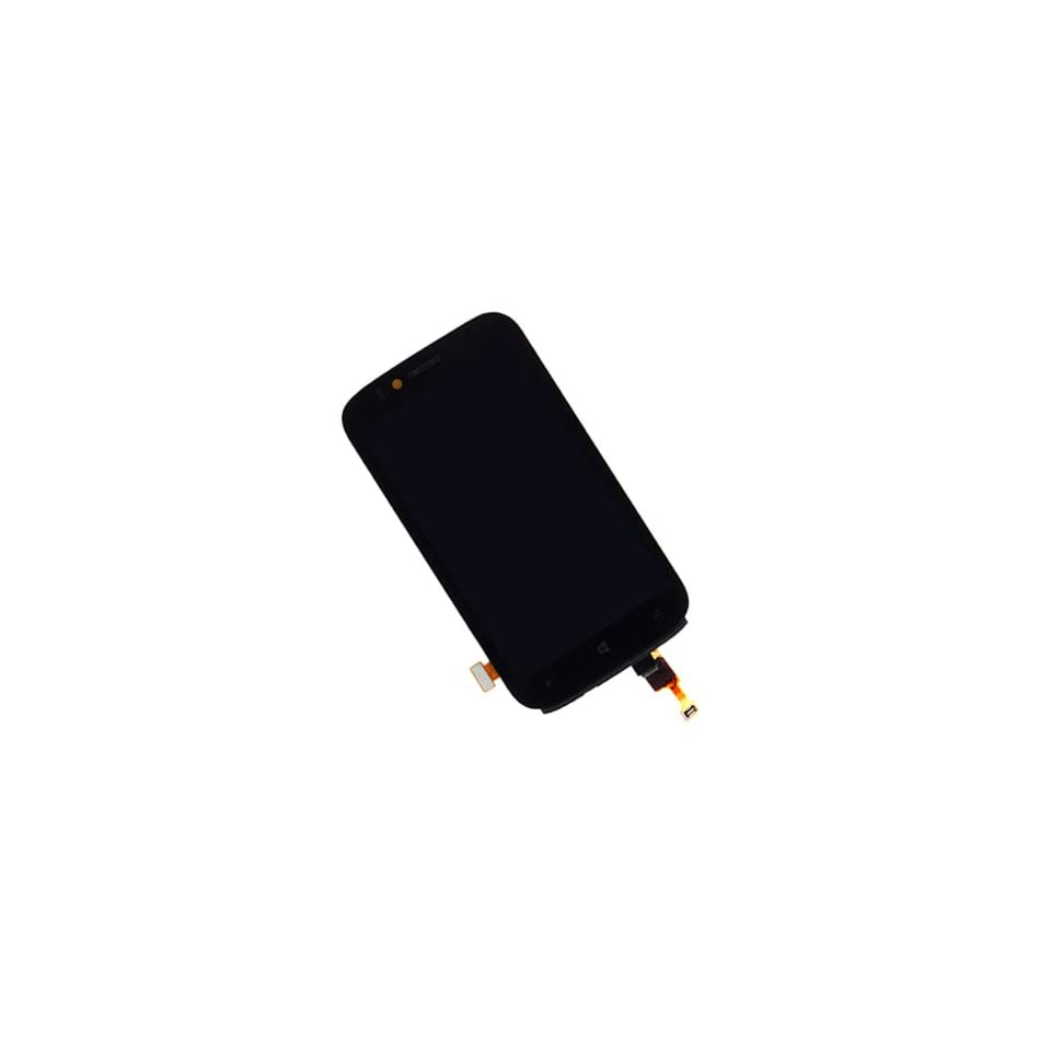 Black Touch Screen Digitizer + LCD Display Assembly with Frame For Nokia Lumia 822 Cell Phones & Accessories