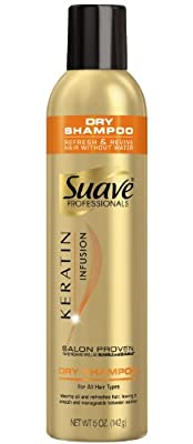 Suave Professionals Keratin Infusion Dry Shampoo, 5 Ounce