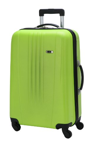 Skyway Luggage Nimbus 24 Inch 4 Wheeled Expandable Spinner Upright, Citron, Large