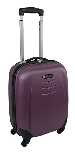 """ABS 4 Wheels Spinner Hard Shell Luggage (19"""" Cabin case, Purple)"""