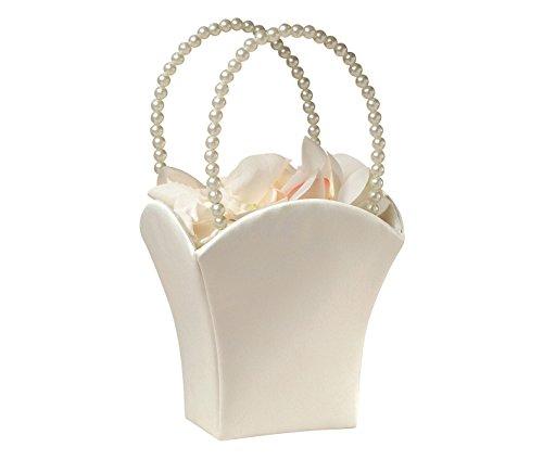 Plain Pearl Handle Ivory Flower Basket ()