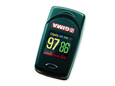 OXY-6 Oxímetro con pulsador de dedo, mide la saturación de oxígeno, SpO2, índice de perfusión y frecuencia cardiaca, para adultos y niños