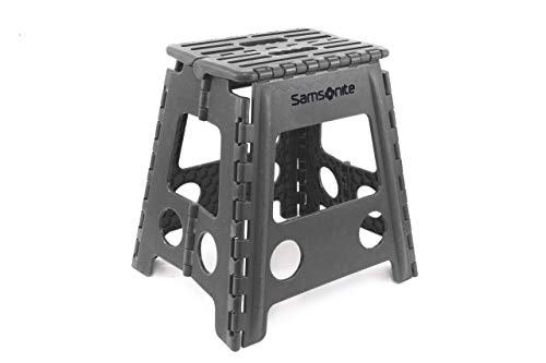 "Inspired Living Folding Step Stool Heavy Duty, 16"" High, GREY"