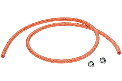 """Saeco/Gaggia 12"""" Braided Water Line Hose w/two Clamps - 996530009505 (16000380)"""