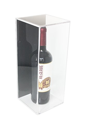 Wine Case Dimensions (Deluxe Acrylic Wine Bottle Display Case with Black Back and Wall Mount (A017-BB))