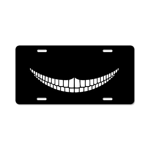 CafePress - Cheshire Grin - Aluminum License Plate, Front License Plate, Vanity - Cat License Plate Cheshire