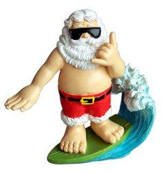 KC Hawaii Shaka Surfing Santa Ornament 3