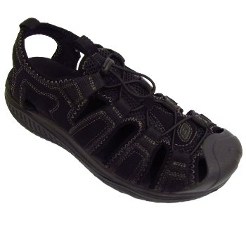 skechers walking sandals. mens black skechers shape-ups leather trail hiking walking sandals shoes 2