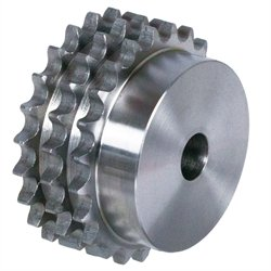 Triple-strand sprocket DRS with hub 16 B-3 1'x17.02mm 38 teeth material cast iron MAEDLER 13813800