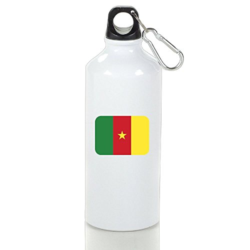 HUOPR5Q Cameroon Printed Water Bottle Travel Accessories Sports Drinking Bottle Office Work Coffee Tea Bottle For Kids Adult