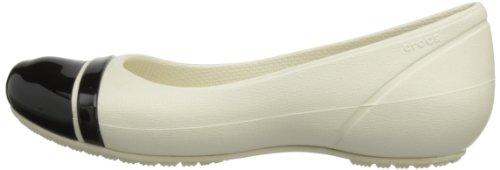 Ballerine Stucco Toe Flat Crocs Donna Cap black CqpnwxZRna