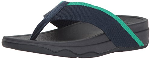 - FitFlop Women's Surfa Flip-Flop, Midnight Navy/Parakeet Green, 7 M US