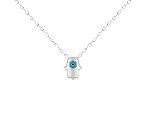 Hamsa and Evil Eye Pendant in Sterling Silver To Watch Over & Protect You While Adding Daily Style (Unisex Whimsical Jewelry)