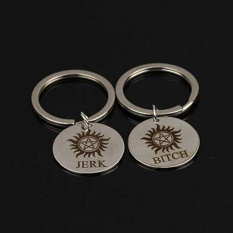 Amazon.com: MAGA 1 par de llaveros de moda con sello de mano ...