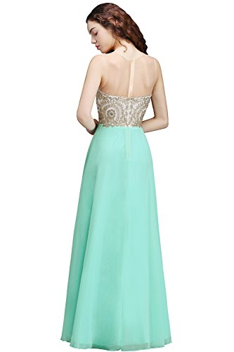 Misshow Sexy Lady Floral Lace Long Sleeveless Formal Prom Bridesmaid Dress: Amazon.co.uk: Clothing