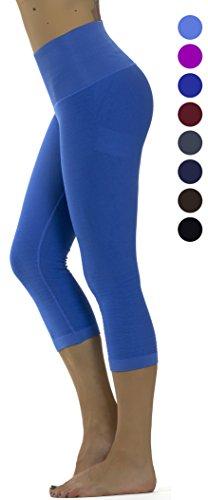 Prolific Health High Compression Women Pants Yoga Fitness Leggings  Medium Large  Denim Capri