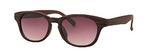 400 Chess (Inner Bifocal Classic Modern Wood Print Frame [UV 400] Reading Sunglasses by iViva (+2.75, Brown))