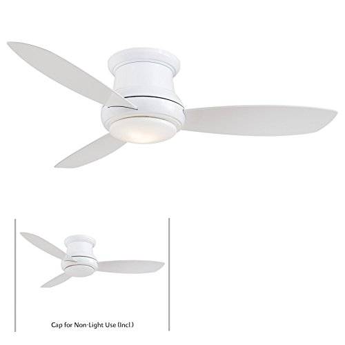 minka-aire-f518l-wh-concept-ii-led-white-flush-mount-44-ceiling-fan-with-light-remote-control