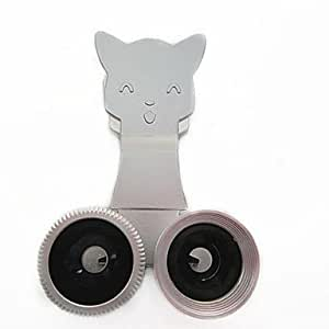 TY Clip Universal Fisheye/ Wide Angle/ Macro Lens for Samsung Galaxy S3/S4/S5/N9000/N7100 , Silver