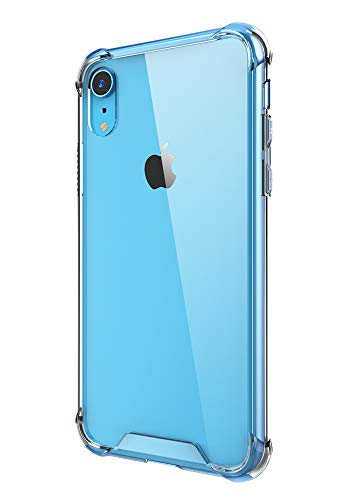 Case for iPhone XR,Cutebe Shockproof Series Hard PC+ TPU Bumper Protective Case for Apple iPhone XR 6.1 Inch 2018 Release Crystal