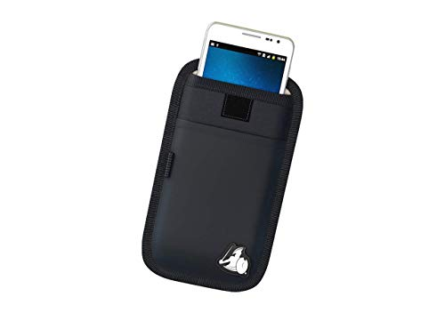 DefenderShield Universal EMF Radiation Protection Pouch for Smartphones, Cell Phones and Other Electronic Devices (Black, Regular) ()