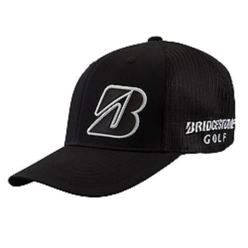 NEW Bridgestone Golf Border B Collection Black/White Snapback Adjustable Hat/Cap