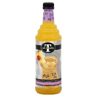 Mr & Mrs T Mixer Mai Tai, 1 Liter Bottles (Pack of 6)
