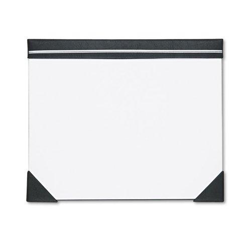 House of Doolittle Executive Doodle Desk Pad, 25-Sheet White Pad, Refillable, 22 X 17, Black/Silver
