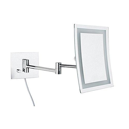 Alhakin Makeup Mirror Square Wall Mounted Mirror Single