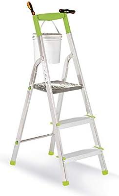 casabriko 11033 escalera doméstica de aluminio de 3 peldaños ...
