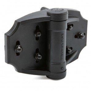 Tru Close Multi Adjust Hinge Set - Black - for Wood and Vinyl Gates (Spring Hinges For Gates)