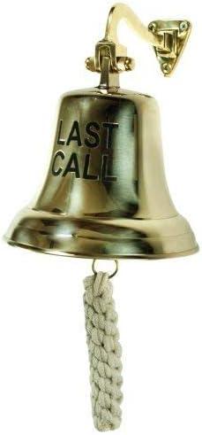 """4/"""" BRASS WOODEN HAND BELL~ PUB Bell ~ SCHOOL BELL ~ DINNER"""