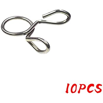 10 Pcs 8mm Fuel Line Tube Tubing Spring Clip Clamp For Motorcycle Scooter ATV