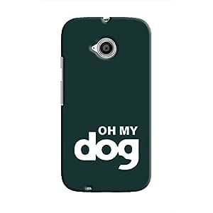 Cover It Up - Oh My Dog Dark Moto E2 Hard Case