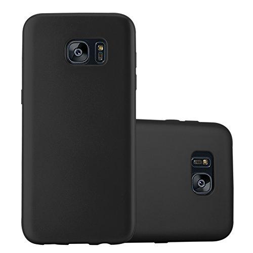 Cadorabo - Cubierta Protectora para >                          Samsung Galaxy S7 EDGE                          < de Silicona TPU con Efecto Metálico Mate �?Case Cover Funda Carcasa Protección en METALLIC-PLATEADO METALLIC-NEGRO
