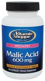 the Vitamin Shoppe - Malic Acid, 600 mg, 90 capsules