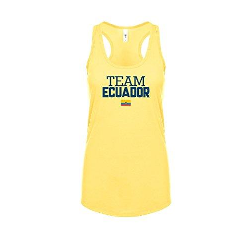- nobrand Ecuador Women's Flag National Pride Woman Soccer Team Racerback Tank Top Tee T-Shirt (Women Yellow S)