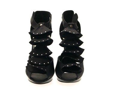 De Toe T Noir À Satin Partie Chaussures Peep Sandales Mariage Dames Tailles De 7 2 Bar Womens Volants Mariée Dames De 5 OqPxFYqwA