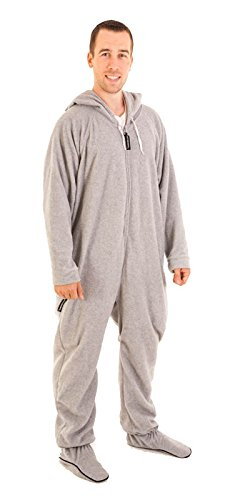 Forever Lazy Footed Adult Onesie - Asleep on The Job Gray - XXS
