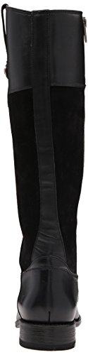 Frye Women's Jayden Button Tall Leather and Suede Riding Boot, Brown Black
