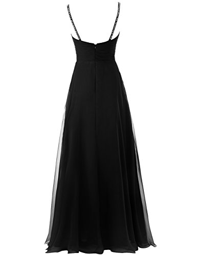Chiffon Straps Gown Spaghetti Dress Party 34 Evening s JAEDEN Women Prom Long Beaded Formal xH8wX4Rqw