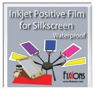 """Waterproof Inkjet Positive Film For Silk Screen 17"""" x 100' Roll"""
