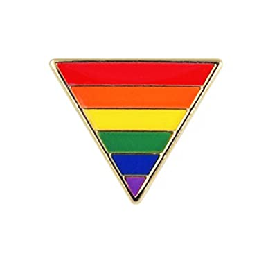 Triangle Rainbow Metal Lapel Pin by Paradoxus