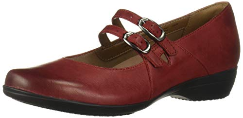Dansko Women's Fynn Mary Jane Flat, red Burnished Nubuck, 42 M EU (11.5-12 US)