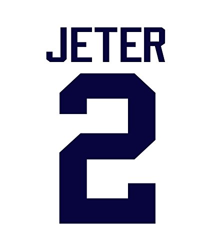 (Derek Jeter New York Yankees Jersey Number Kit, Authentic Home Jersey Any Name or Number Available)