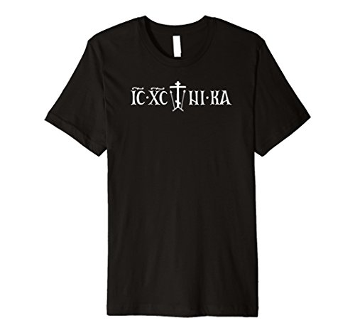 American Orthodox Co.: ICXC+NIKA Golgotha Cross T-shirt - Cross Golgotha
