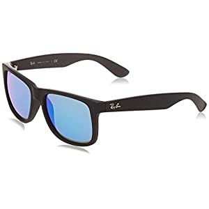 Ray-Ban unisex-adult 0RB4165 Rb4165 Justin Rectangular Sunglasses
