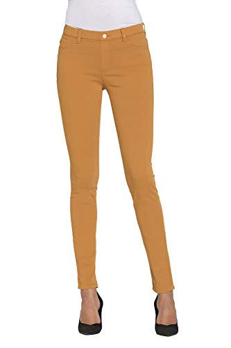 Tejido Liso Es Extensible Mujer S Carrera Para Color Jeans Jeggings Rq1X8Y4