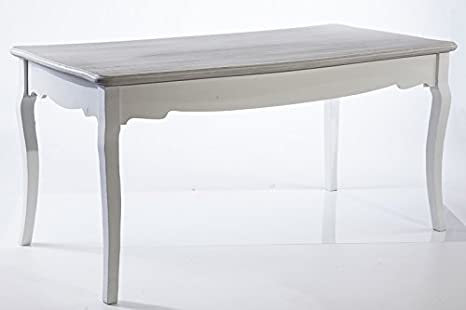 DiKasa Tisch Esstisch Holz Shabby Chic weiß TOP grau ...